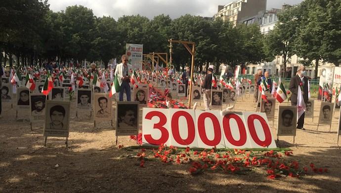 آکسیون اعتراضی هموطنان آزاده در پاریس - قتل عام زندانیان سیاسی
