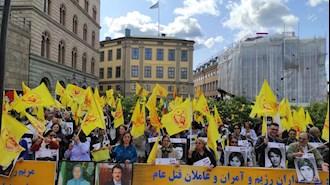 تظاهرات ایرانیان در استکهلم