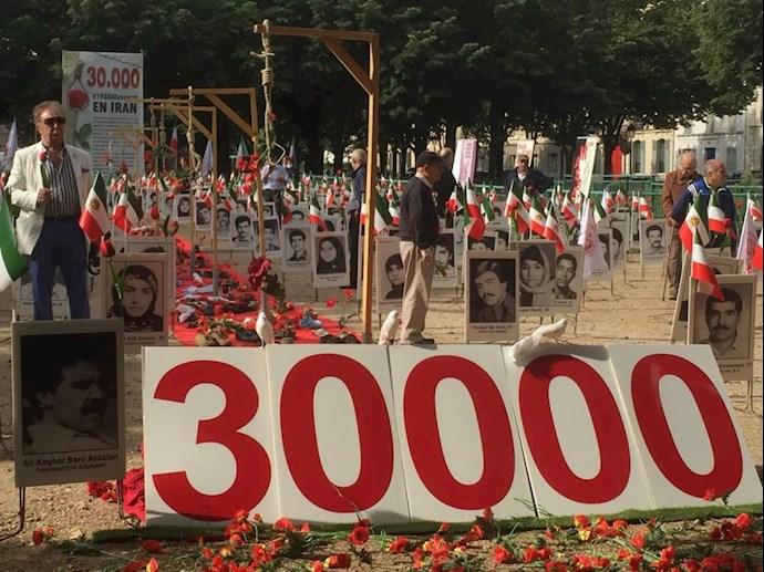 آکسیون اعتراضی هموطنان آزاده در پاریس - قتلعام زندانیان سیاسی - 2