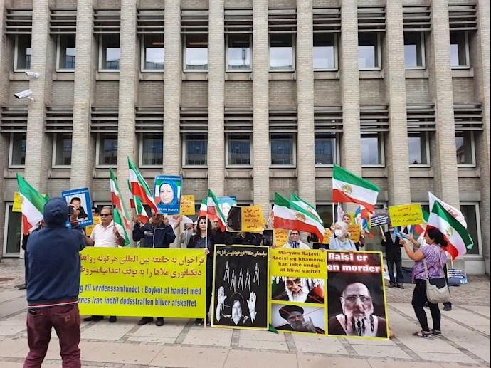 کپنهاگ دانمارک: تظاهرات هموطنان آزاده برای محاکمه آخوند ابراهیم رئیسی - ۱۲ مرداد