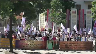 تظاهرات ایرانیان آزاده در برابر دادگاه سوئد