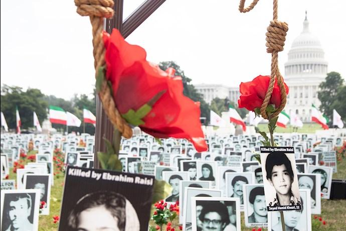 تظاهرات و اکسیون اعتراضی ایرانیان آزاده در واشنگتن - نمایشگاه قتلعام شدگان ۶۷ - 0
