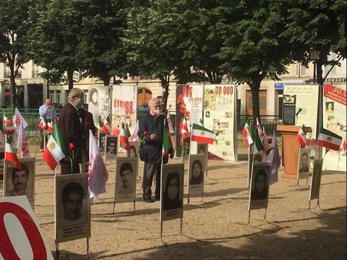 آکسیون اعتراضی هموطنان آزاده در پاریس - قتلعام زندانیان سیاسی - 1