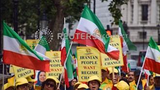 تظاهرات ایرانیان آزاده در لندن