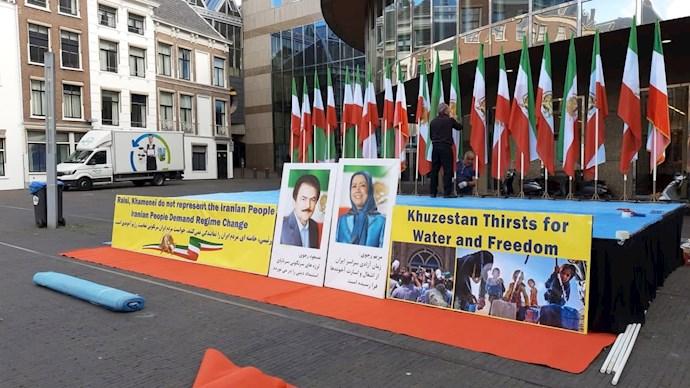 -لاهه هلند: آکسیون اعتراضی هموطنان آزاده