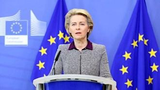 اورزولا فون در لاین، رئیس کمیسیون اتحادیه اروپا