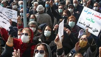 تجمع اعتراضی بازنشستگان - عکس از آرشیو