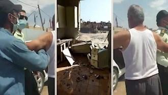 تخریب خانههای مردم در بهبهان توسط ماموران رژیم
