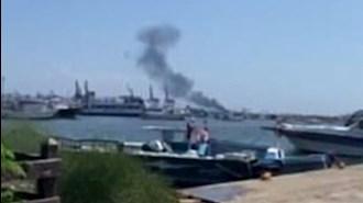 انفجار در کشتی در لاذقیه سوریه