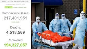 آمار فوتیهای کرونا در جهان