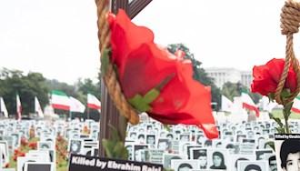 آکسیون اعتراضی ایرانیان آزاده در واشنگتن - نمایشگاه قتلعام شدگان ۶۷ - ۱۲مرداد۱۴۰۰