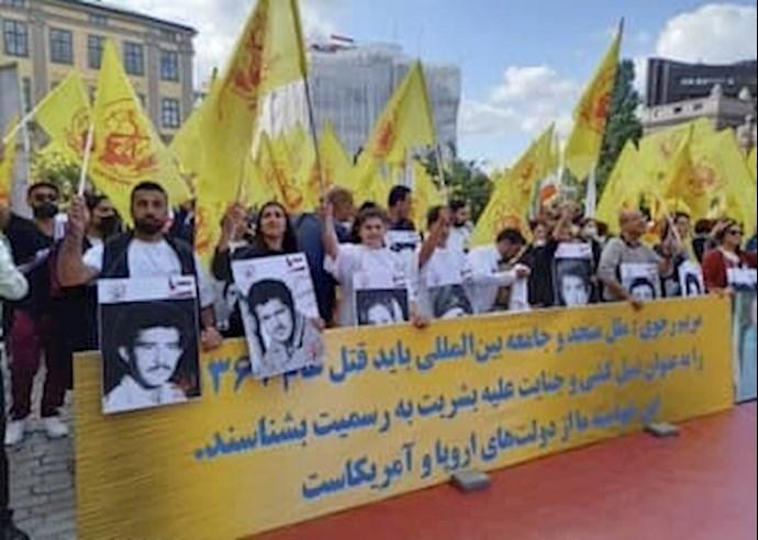 تظاهرات ایرانیان آزاده در سوئد بهمناسبت سی و سومین سال قتلعام زندانیان سیاسی در ایران - اول شهریور ۱۴۰۰ - 2