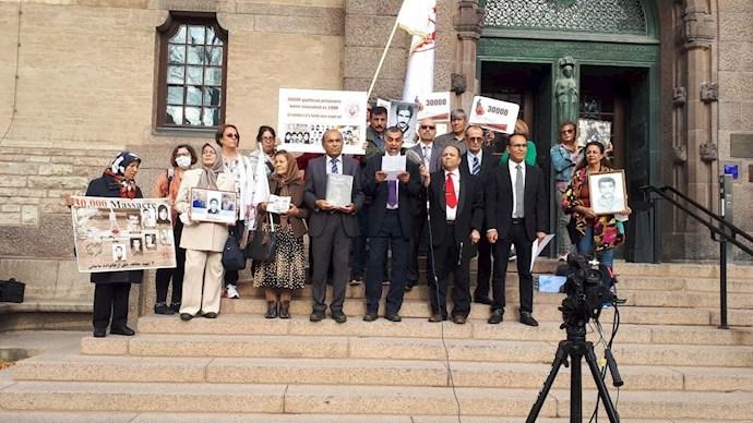 تظاهرات هواداران مجاهدین و بستگان شهیدان سربدار - سوئد استکهلم