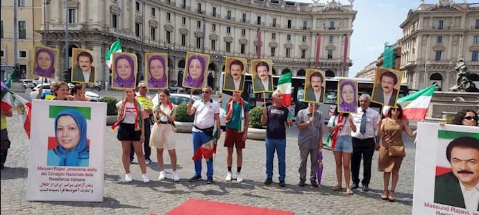 -تظاهرات ایرانیان آزاده در ایتالیا