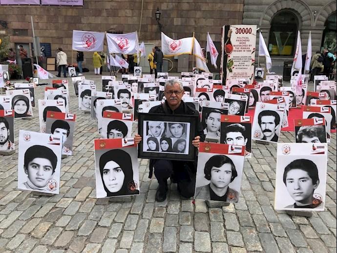 تظاهرات در استکهلم مقابل پارلمان سوئد در گرامیداشت ۳۰ هزار گلسرخ سر بدار - 2