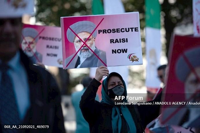 انعکاس تصویری خبرگزاری فرانسه از گردهماییهای جهانی علیه ابراهیم رئیسی در انگلستان - 5
