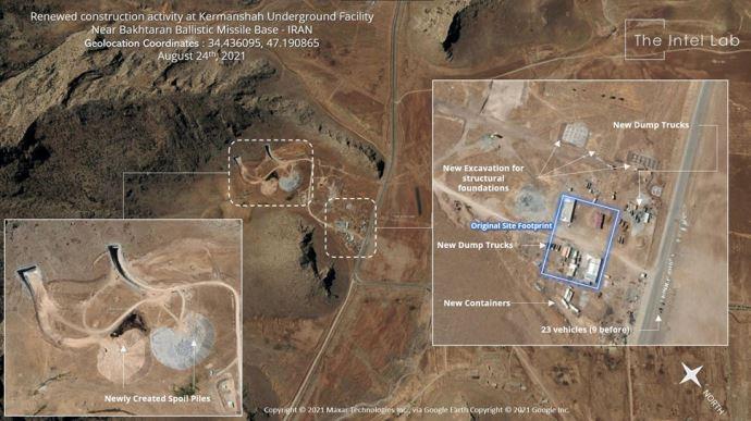 اینتل لب - تشدید فعالیت رژیم آخوندی در تاسیسات زیرزمینی موشکی بالستیک کرمانشاه