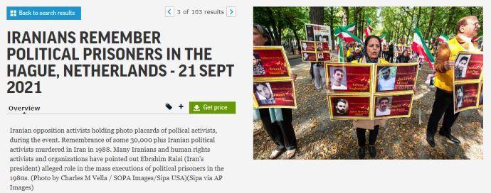 گزارش تصویری آسوشیتدپرس از تظاهرات ایرانیان آزاده در هلند -لاهه بهمناسبت گرامیداشت شهیدان قتلعام ۶۷ - 1
