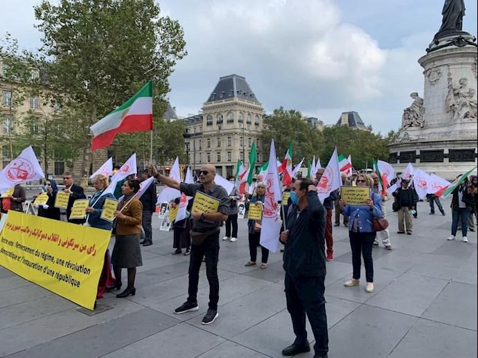 -فرانسه - آکسیون ایرانیان آزاده و هواداران سازمان مجاهدین در شهر پاریس- علیه آخوند رئیسی - 0