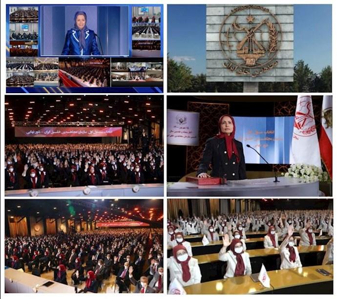 مراسم انتخاب مسئول اول سازمان مجاهدین خلق ایران