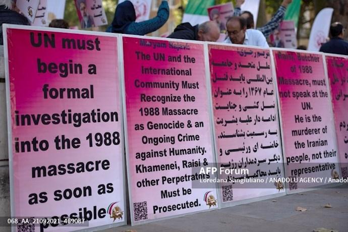 انعکاس تصویری خبرگزاری فرانسه از گردهماییهای جهانی علیه ابراهیم رئیسی در انگلستان - 11