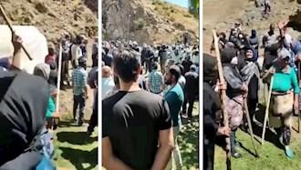 اعتراض کشاورزان روستای بلوکان