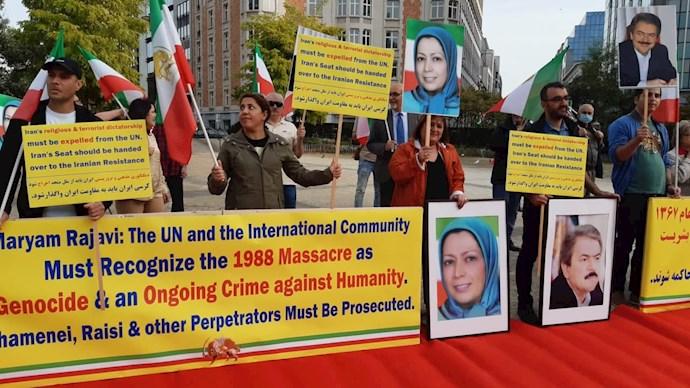 -بلژیک - آکسیون ایرانیان آزاده در بروکسل علیه آخوند جلاد رئیسی - 0