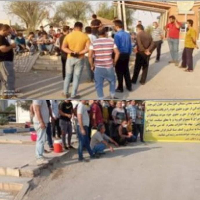 -تجمع اعتراضی کارگران اخراجی کارخانه سیمان رامهرمز