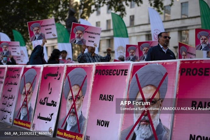 انعکاس تصویری خبرگزاری فرانسه از گردهماییهای جهانی علیه ابراهیم رئیسی در انگلستان - 0