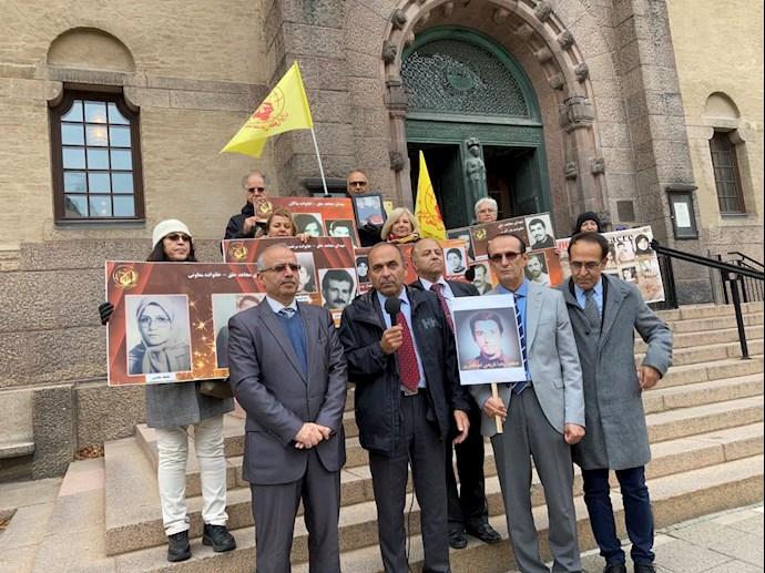 -تظاهرات ایرانیان آزاده و هواداران سازمان مجاهدین در دادخواهی قتلعام شدگان ۶۷ در سوئد - 3