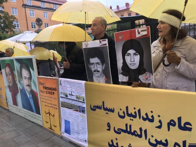 -تظاهرات ایرانیان آزاده و هواداران سازمان مجاهدین در دادخواهی قتلعام شدگان ۶۷ در سوئد - 2