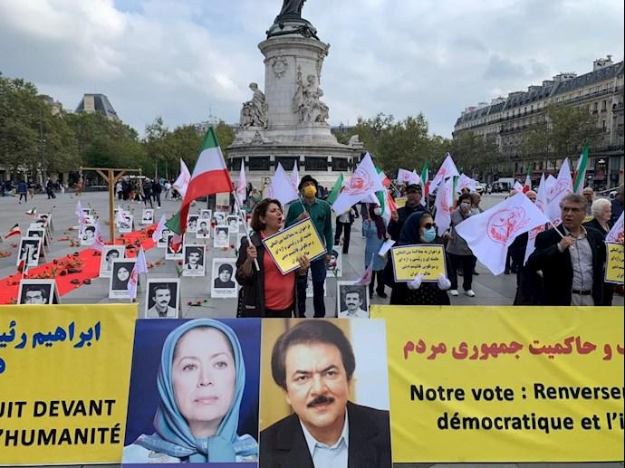-فرانسه - آکسیون ایرانیان آزاده و هواداران سازمان مجاهدین در شهر پاریس- علیه آخوند رئیسی - 1