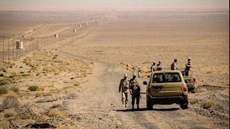 حضور نیروهای سرکوبگر انتظامی در مرز سیستان و بلوچستان