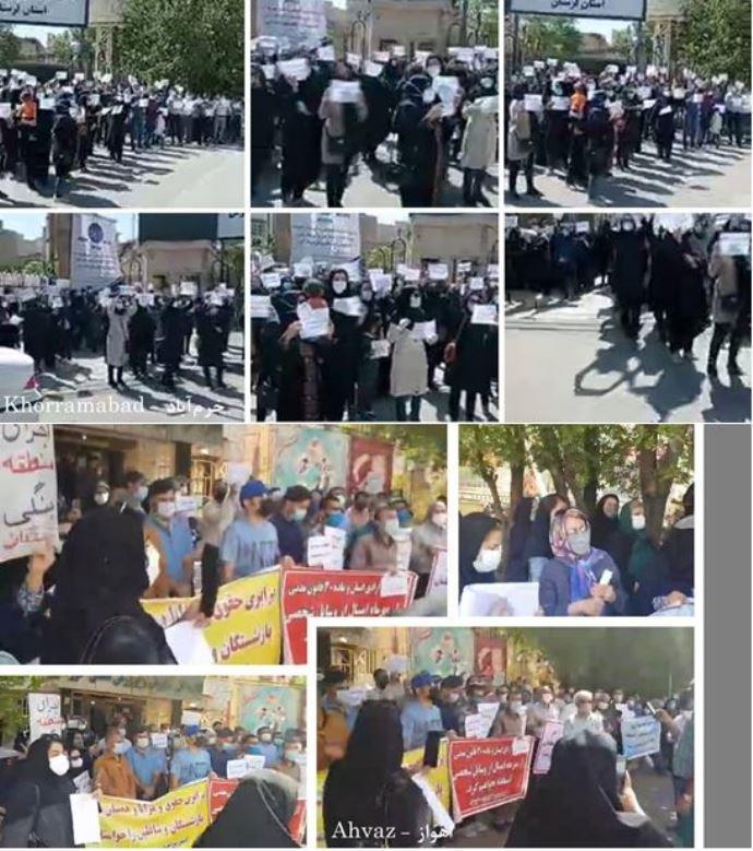 -اعتراضات معلمان در ۴۰ شهر و ۲۰ استان ایران - 1