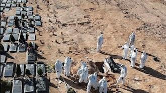 دفن بیماران کرونایی در وادی رحمت تبریز