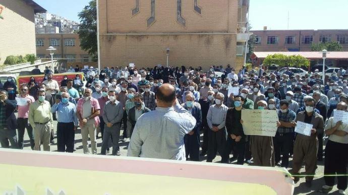 -تجمع اعتراضی معلمان سنندج ۳مهر