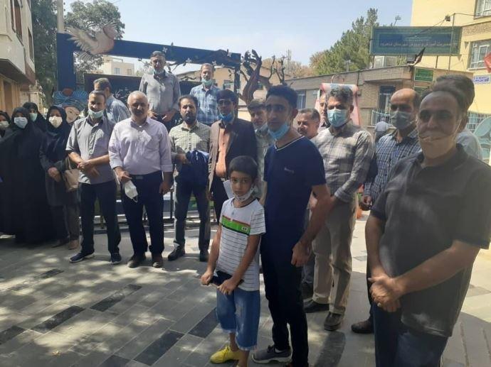 -تجمع اعتراضی معلمان شاهرود- اول مهر۱۴۰۰