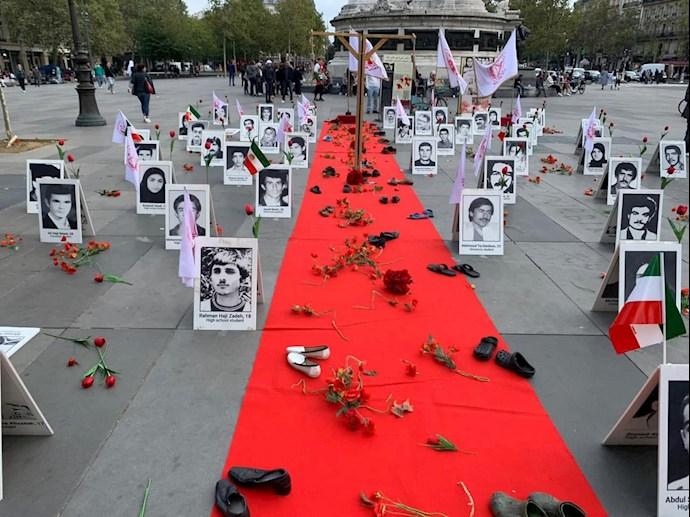 -فرانسه - آکسیون ایرانیان آزاده و هواداران سازمان مجاهدین در شهر پاریس- علیه آخوند رئیسی - 4