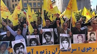 تظاهرات ایرانیان آزاده برای جنبش دادخواهی قتل عام شدگان ۶۷ در سوئد