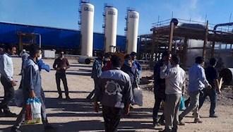 اعتصاب کارگران پروژهیی شاغل در نیروگاه غرب کارون