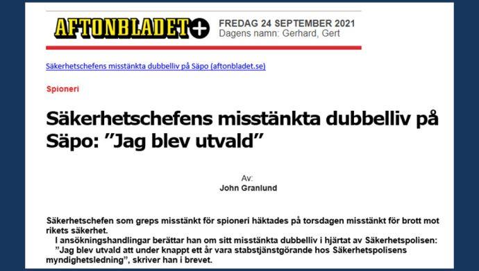 دستگیری یک مزدور اطلاعات آخوندها در پلیس امنیتی سوئد