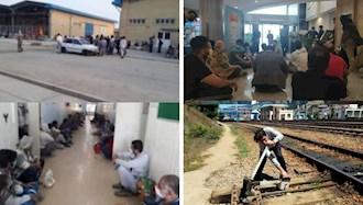 تجمع اعتراضی کاربران کریپتولند، کارگران تهران جنوب و کارگران راهدار راهآهن تاکستان