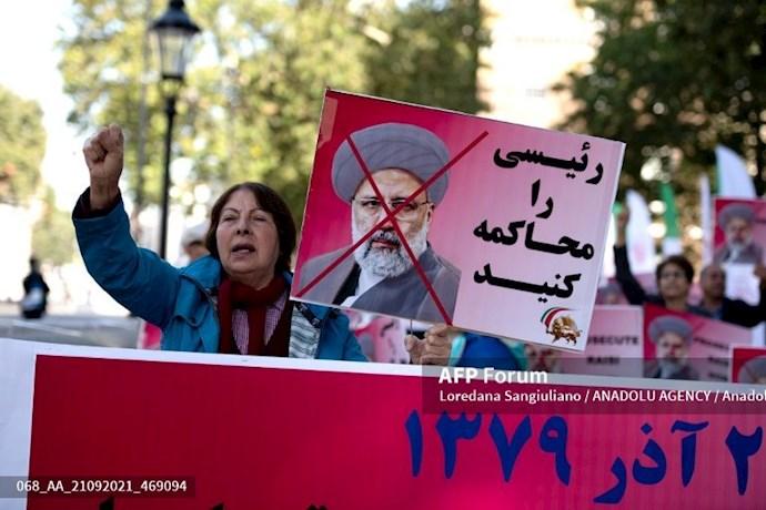 انعکاس تصویری خبرگزاری فرانسه از گردهماییهای جهانی علیه ابراهیم رئیسی در انگلستان - 15