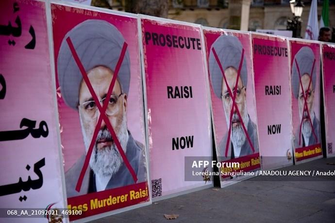انعکاس تصویری خبرگزاری فرانسه از گردهماییهای جهانی علیه ابراهیم رئیسی در انگلستان - 18