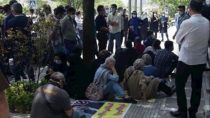 تجمع اعتراضی پرستاران
