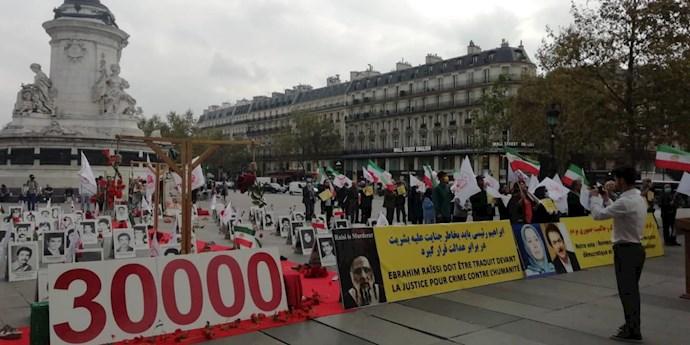 -فرانسه - آکسیون ایرانیان آزاده و هواداران سازمان مجاهدین در شهر پاریس- علیه آخوند رئیسی - 2