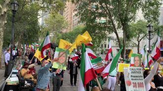 تظاهرات ایرانیان آزاده علیه آخوند رئيسی در نیویورک