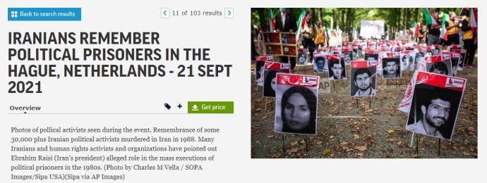 گزارش تصویری آسوشیتدپرس از تظاهرات ایرانیان آزاده در هلند -لاهه بهمناسبت گرامیداشت شهیدان قتلعام ۶۷ - 9