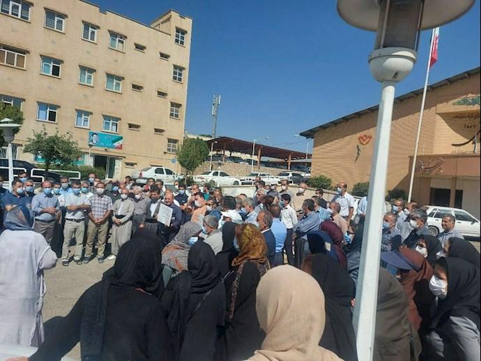 تجمع معلمان استان کردستان - سنندج در اعتراض به عدم اجرای طرح رتبهبندی ۳۰شهریور