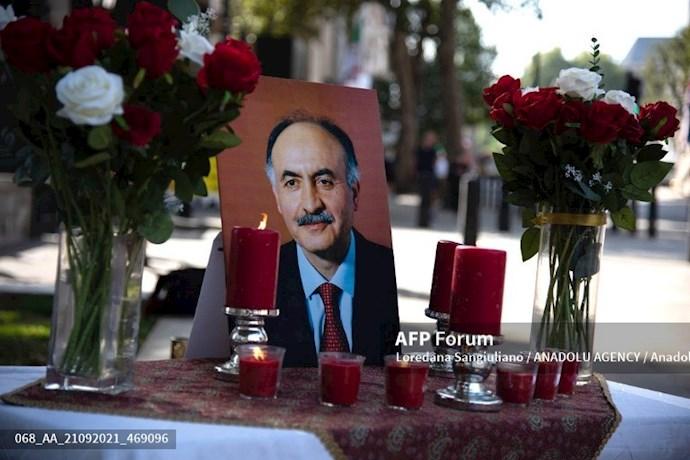 انعکاس تصویری خبرگزاری فرانسه از گردهماییهای جهانی علیه ابراهیم رئیسی در انگلستان - 16